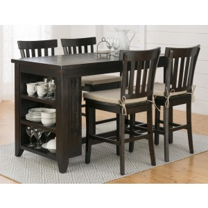 Prospect Creek Counter Height Storage Table and Stool Set