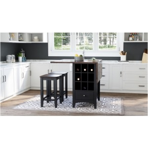 Asbury Park 3 PC Counter Height Table & Stool Set