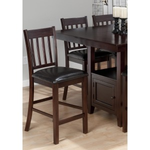 Tessa Chianti 4-Piece Casual Counter Height Square Table  Bar Stool Set