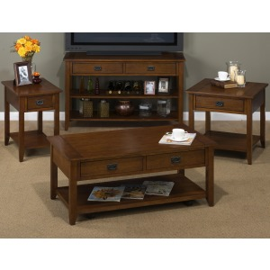 4PC Mission Oak Table Set