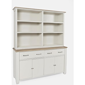 Dana Point Transitional 2-Drawer 4 Door Buffet & Hutch