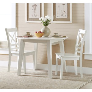 "Simplicity Round Table and 2 Chair Set (with ""X"" Back Chairs)"