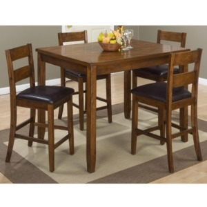 Plantation Plantation Counter Height Table and Four Stools