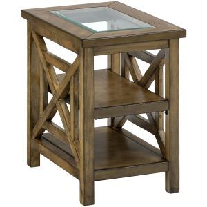 Brady Birch Small Contemporary Chairside Table