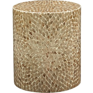 Global Archive Round Capiz Accent Table