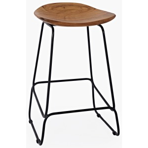 Nature's Edge Natural Backless Stool