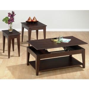 End Table with Fancy Oak Veneer