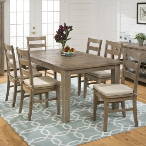 Slater Mill Pine Rectangular table and Ladderback Chair Set