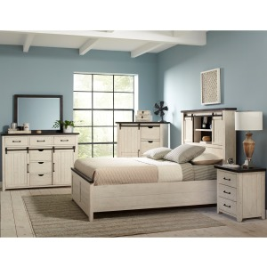 Madison County 4 PC Queen Storage Bedroom Set