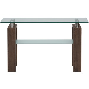 Compass Sofa Table with Glass Top