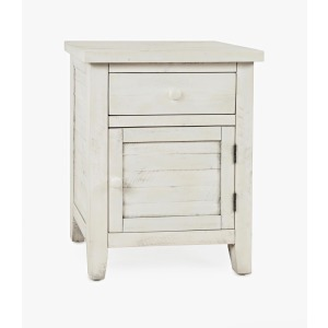American Folklore Accent Table - Antique Cream