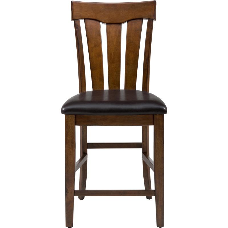 Plantation Slat Back Stool with Upholstered Seat