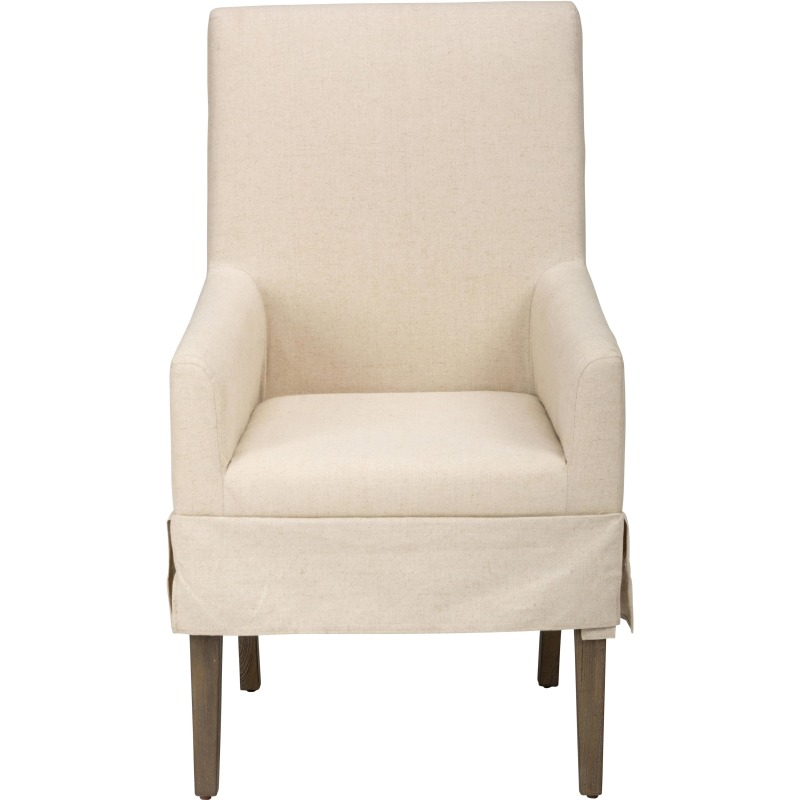 Hampton Slipcovered Dining Chair with Arm Rests
