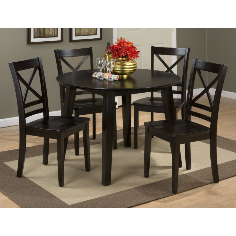 Awe Inspiring Simplicity Round Table And 4 Chair Set With X Back Chairs By Andrewgaddart Wooden Chair Designs For Living Room Andrewgaddartcom