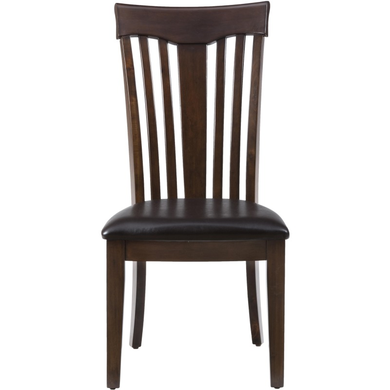 Mirandela Birch Contoured Slat Back Chair with Padded Cushion