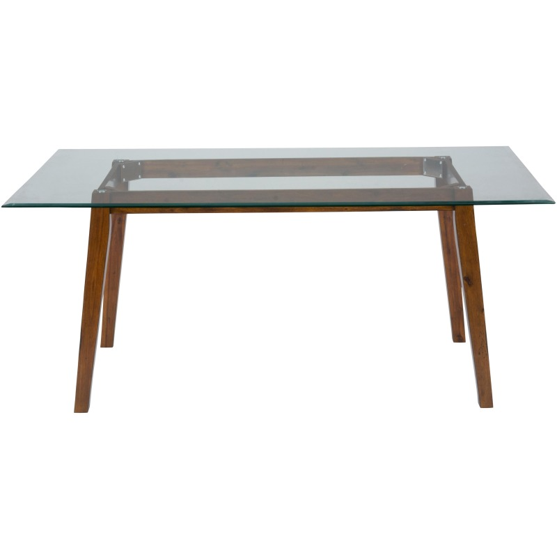 Plantation 72 Rectangle Dining Height Table with Glass Top