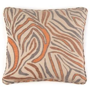 "20"" X 20"" Pillow Animal Print Orange"