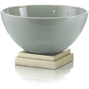 Sea Green Ceramic Bowl On Base