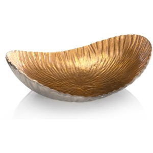 4.5X15X11.5 Crinkled Bowl In Gold