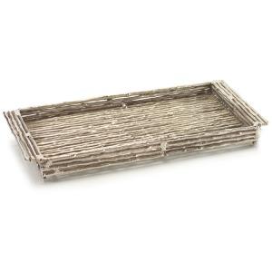 Twig Rect. Raw Silver Tray