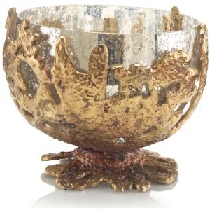 12X15 Brass Casting Encases Glass Bowl