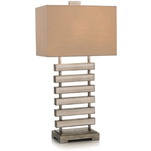 "32"" Mirrored Ladder Table Lamp"