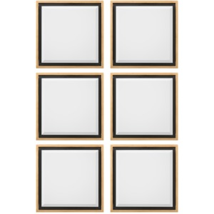 Set/6-21.5X21.5X2 Reverse Shadowbox Mir