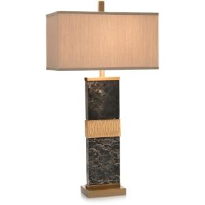 Black Marble Column Table Lamp