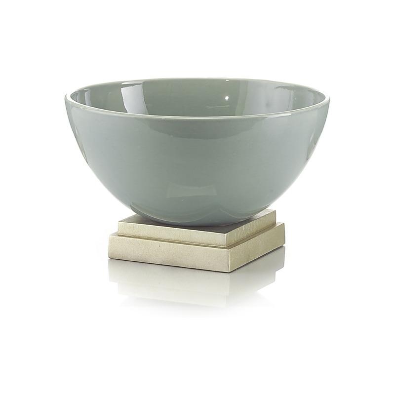 8X Sea Grn Ceramic Bowl On Base