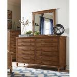 Farmhouse Chic 6-Drawer Dresser - Bourbon