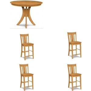 5PC Gathering Table Dining Set