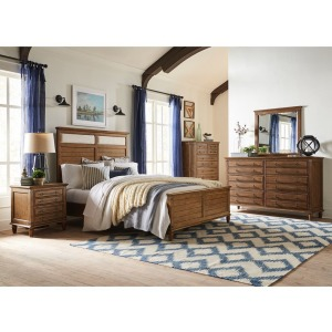 Farmhouse Chic 4PC Bedroom Set - Bourbon