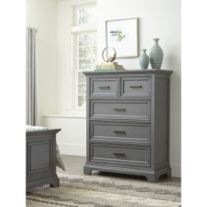 Summit 5-Drawer Chest - Mineral Gray