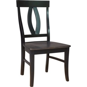 Verona Chair in Coal & Black