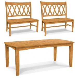 TABLE & 2 BENCH PKG