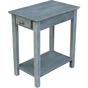 Narrow End Table in Heather Gray