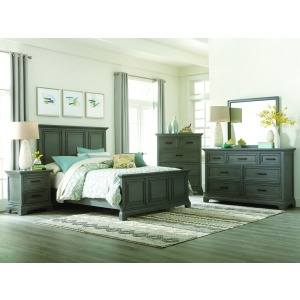 Summit 4PC Queen Bedroom Set - Mineral Gray