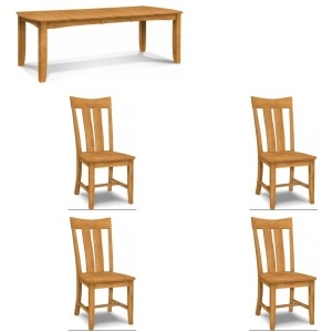 5PC Shaker Table Dining Set