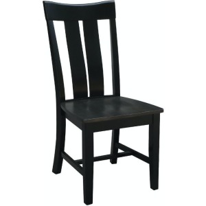 Ava Chair in Coal & Black