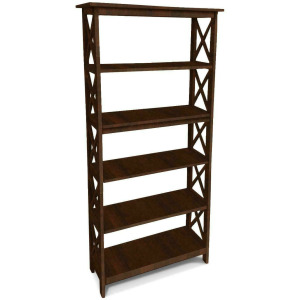 X -Sided Bookcase - Truffle