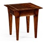 Craftsman's Mahogany Side Table w/Herringbone Inlay Detail