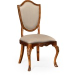 Upholstered Shield Back Chair Side