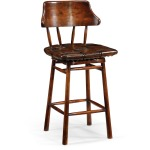 Country Style Leather Bar Counter Stools
