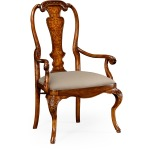 William Mary Inlaid Chair Arm
