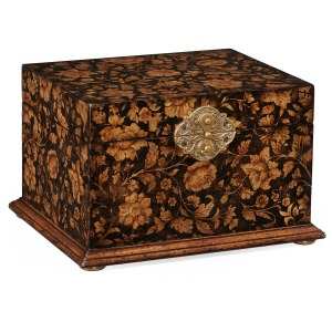 Chinoiserie Lidded Jewellery Box Black