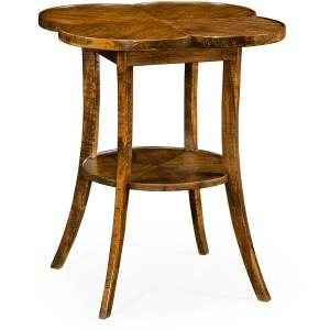 Quatrefoil Lamp Table in Country Walnut