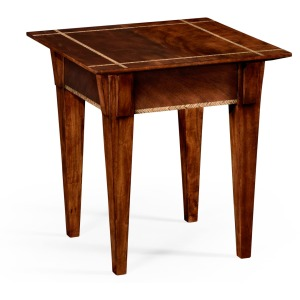 Craftsman's Mahogany Side Table w/Herringbone Inlay Detail