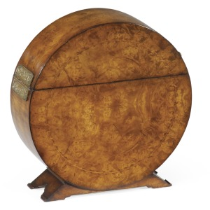 Circular Placemats Box With Marquetry Inlay
