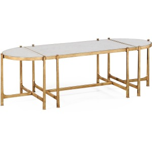 Eglomise Gilded Iron Bunching Tables