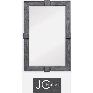 Antique Dark Grey Rectangular Mirror